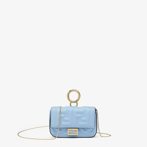 Light blue nappa leather charm
