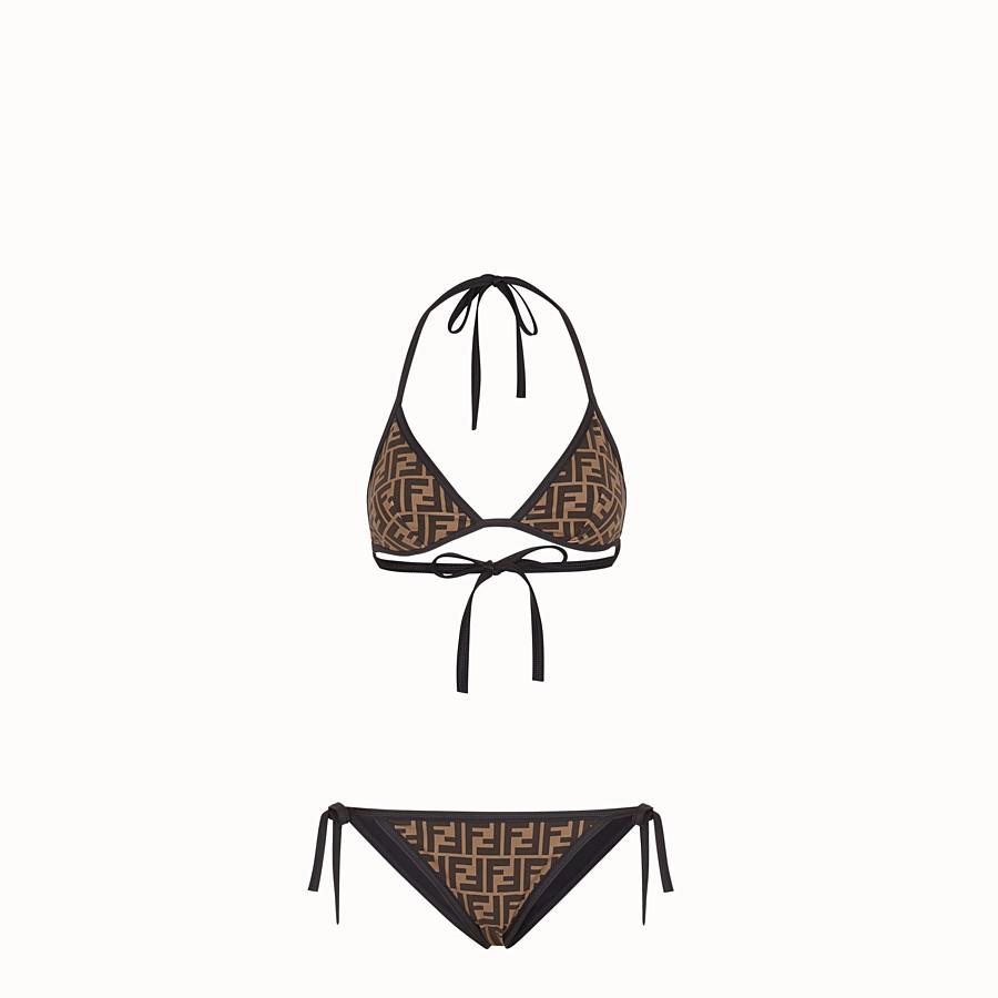 FENDI BIKINI - Black Lycra bikini - view 1 detail