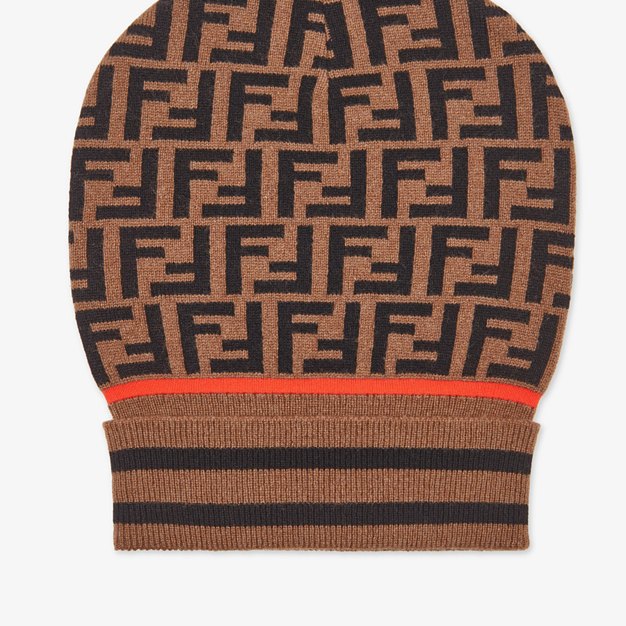 FENDI HAT - Brown hat in cashmere and wool - view 2 detail