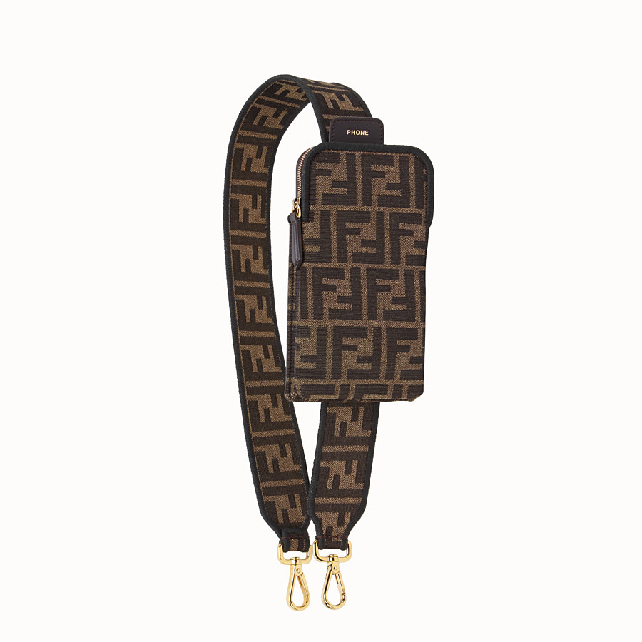 FENDI STRAP YOU - Brown fabric shoulder strap - view 1 detail