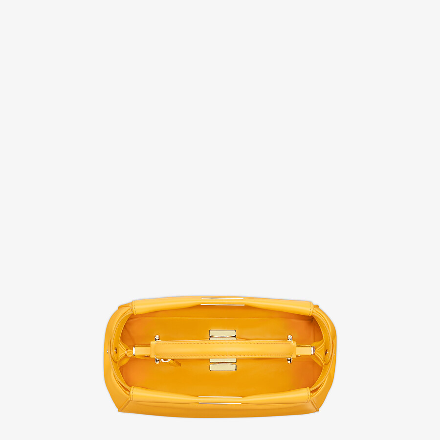 FENDI PEEKABOO ICONIC MINI - Orange nappa leather bag - view 5 detail