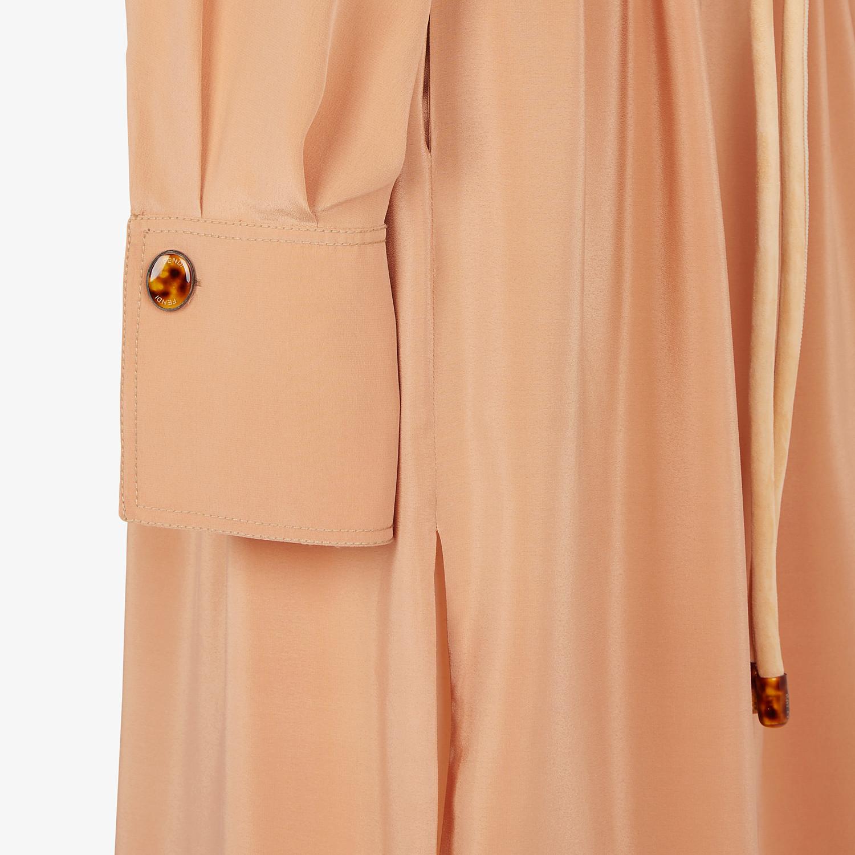 FENDI DRESS - Beige crêpe de Chine dress - view 3 detail