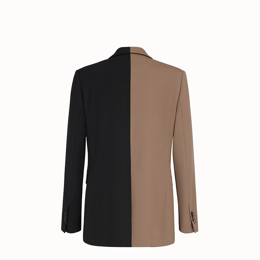 FENDI JACKET - Black gabardine blazer - view 2 detail