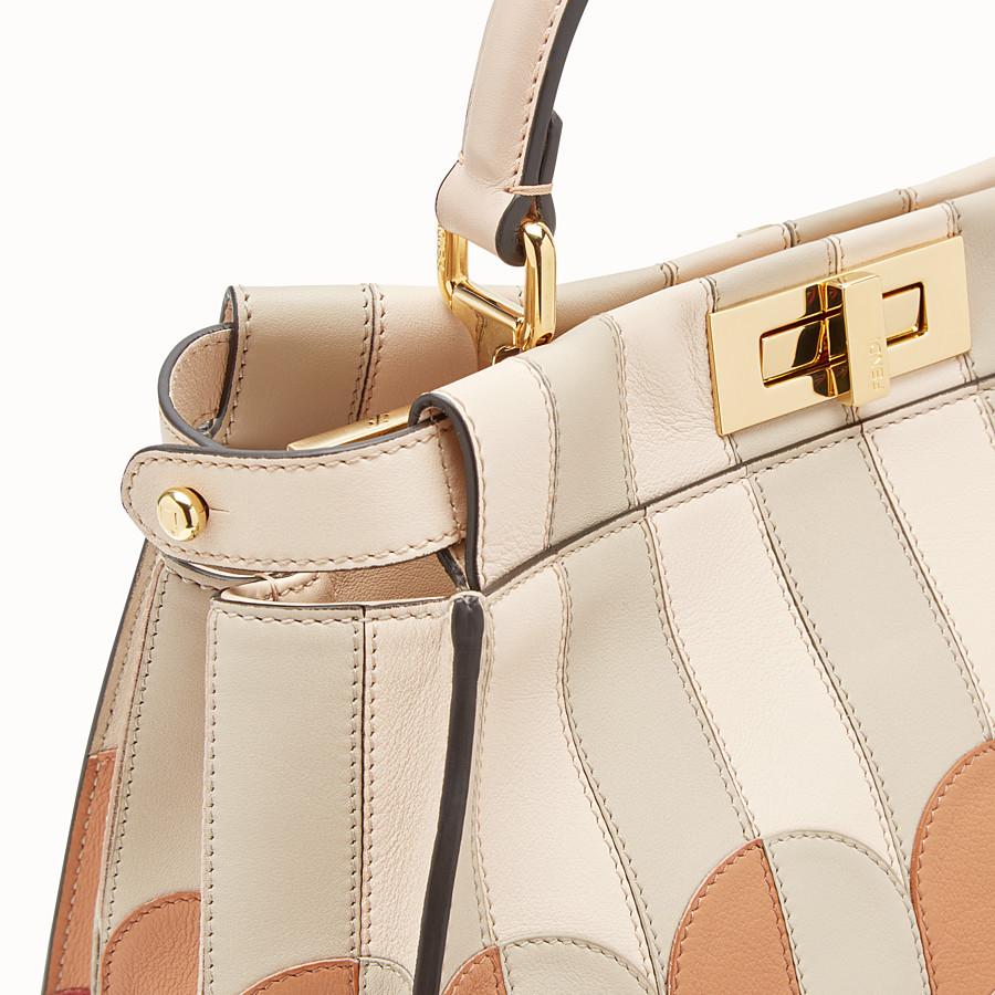 FENDI PEEKABOO ICONIC MEDIUM - Pink leather bag - view 5 detail