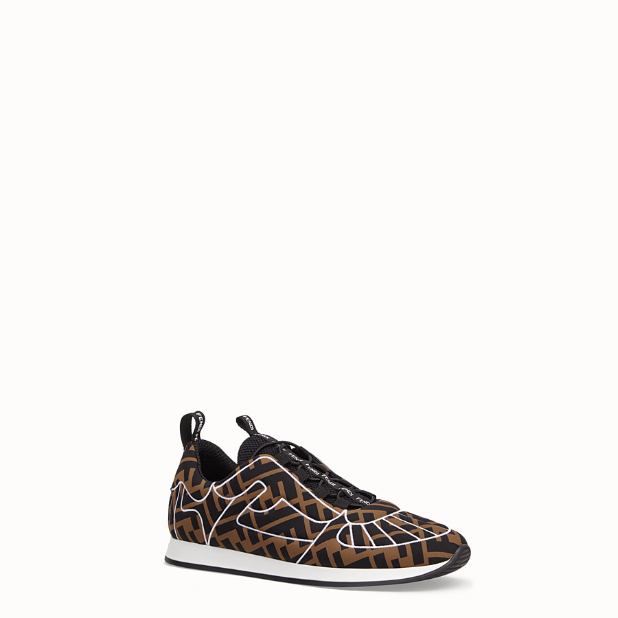 FENDI SNEAKERS - Brown Lycra® sneakers - view 2 detail