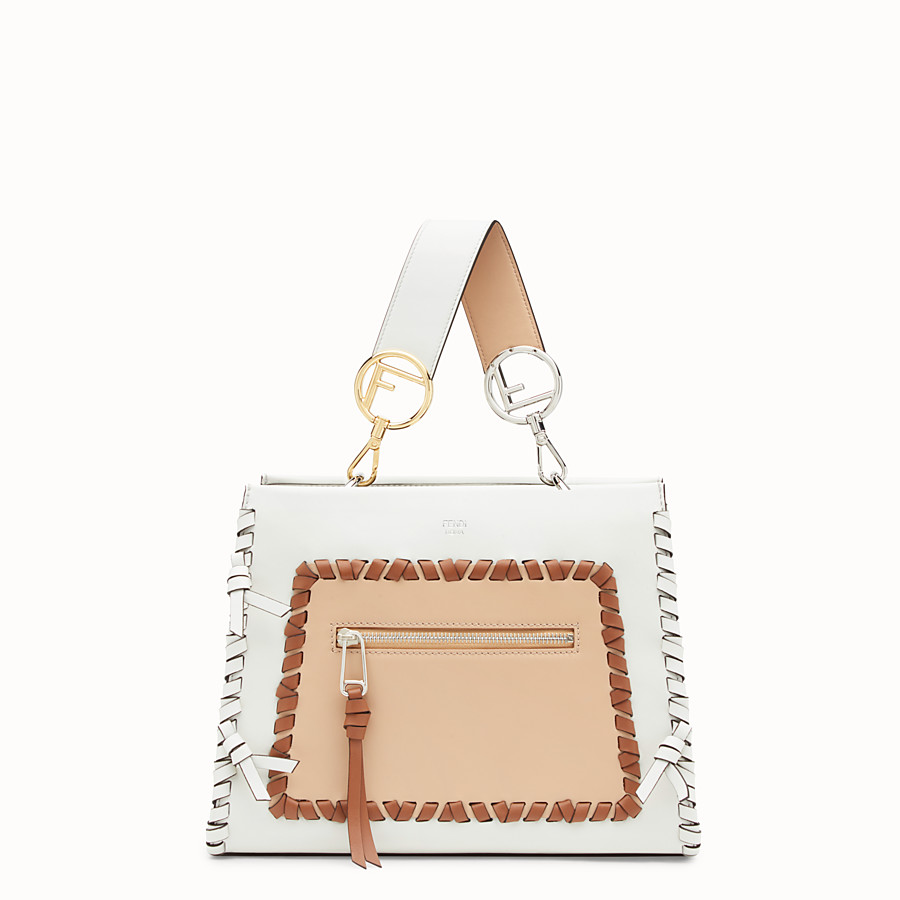 FENDI RUNAWAY SMALL - White leather bag - view 1 detail