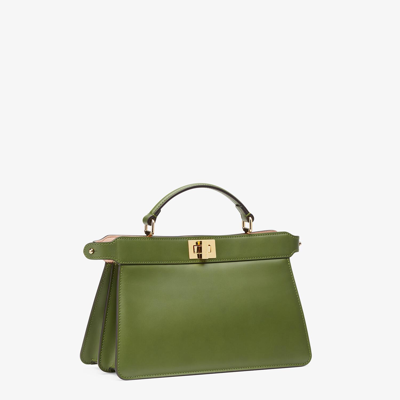 FENDI PEEKABOO ISEEU EAST-WEST - Green leather bag - view 3 detail