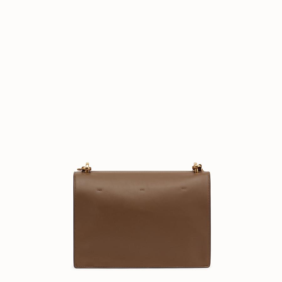 FENDI KAN U - Brown leather bag - view 4 detail