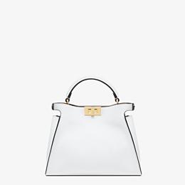 FENDI PEEKABOO ICONIC ESSENTIALLY - White leather bag - view 4 thumbnail