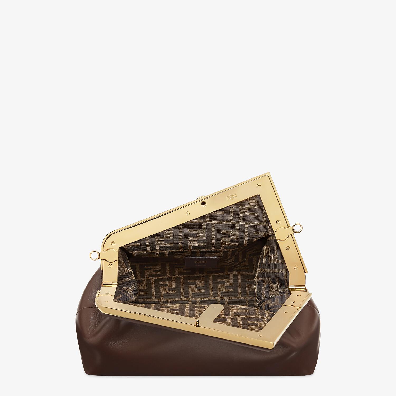 FENDI FENDI FIRST MEDIUM - Dark brown leather bag - view 5 detail