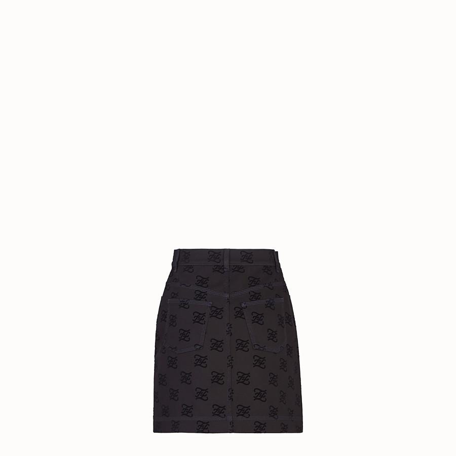 FENDI スカート - ブラックデニム スカート - view 2 detail
