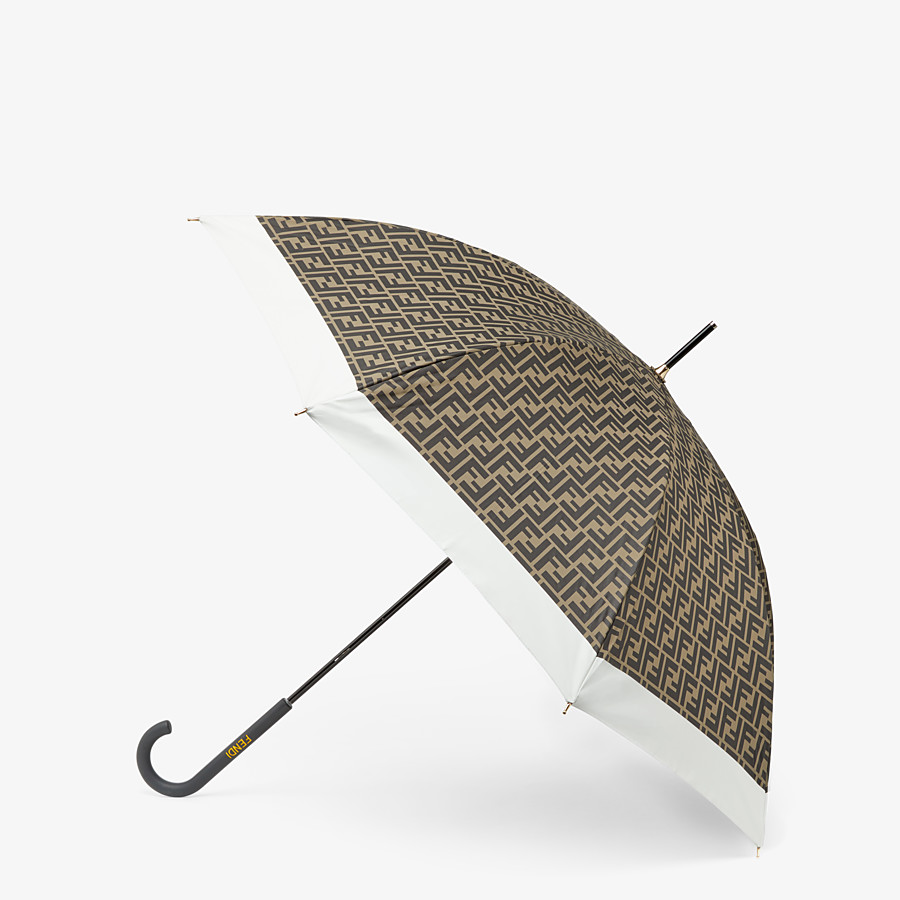 FENDI PARAGUAS - Paraguas de tejido técnico marrón - view 1 detail