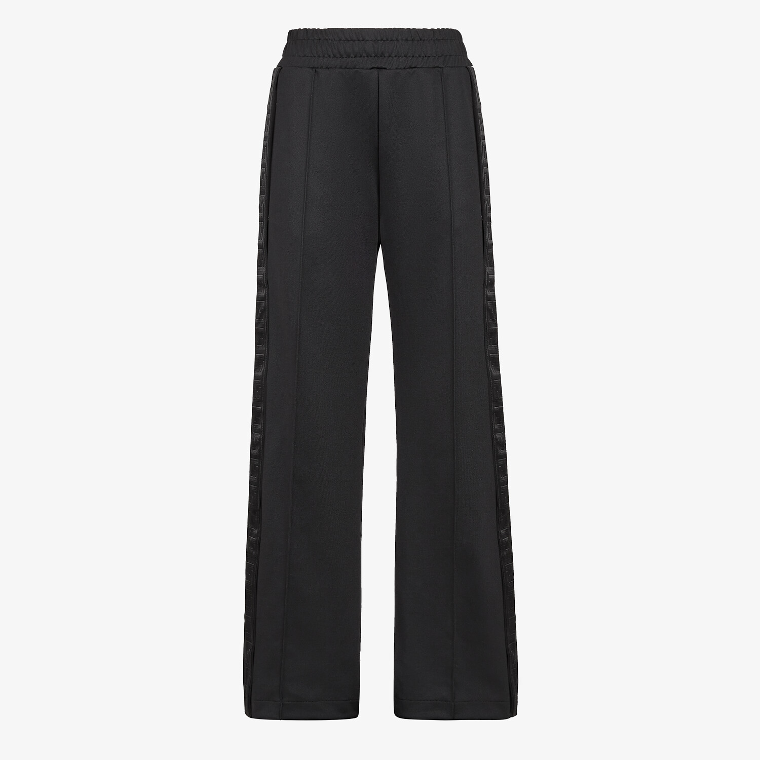 FENDI PANTS - Black piqué jersey pants - view 1 detail
