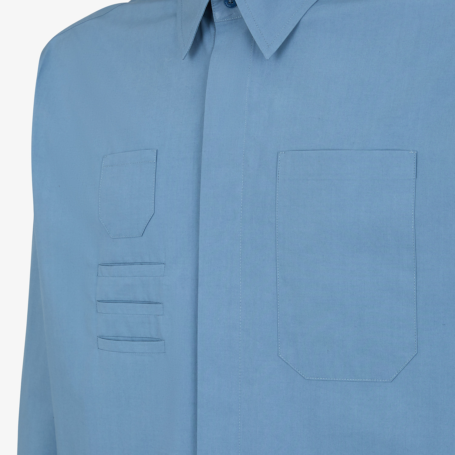 FENDI SHIRT - Light blue cotton shirt - view 3 detail