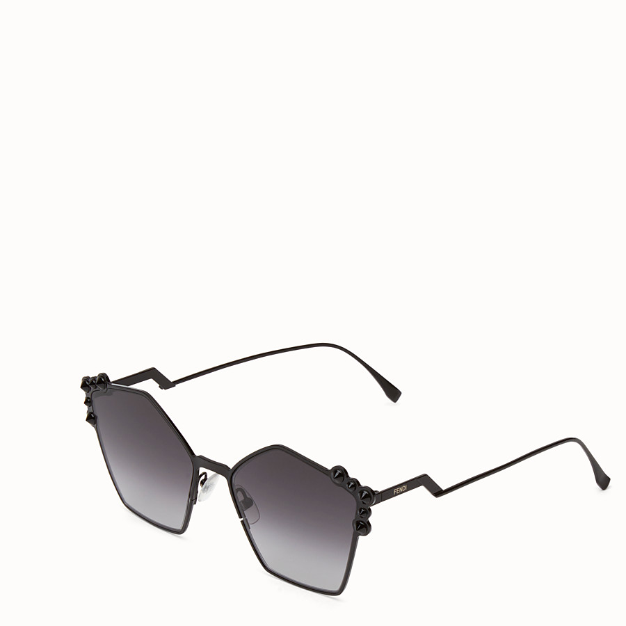 FENDI CAN EYE - Black sunglasses - view 2 detail