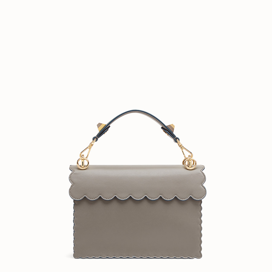 FENDI KAN I - Gray leather bag - view 3 detail