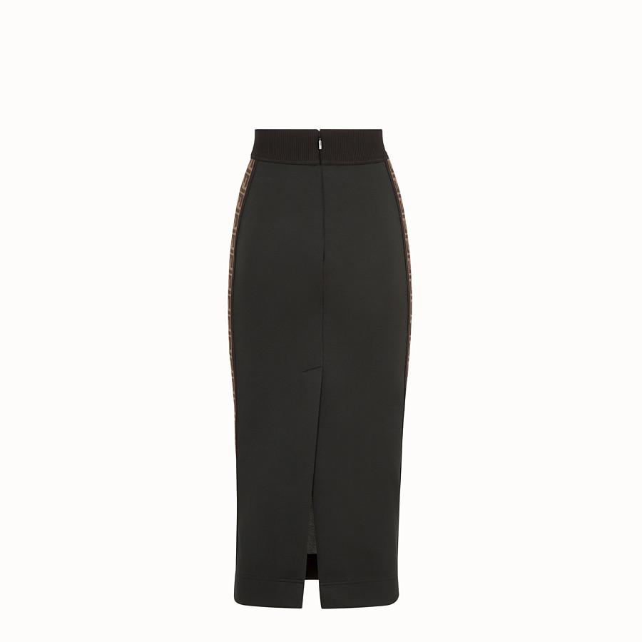 FENDI SKIRT - Black jersey skirt - view 2 detail