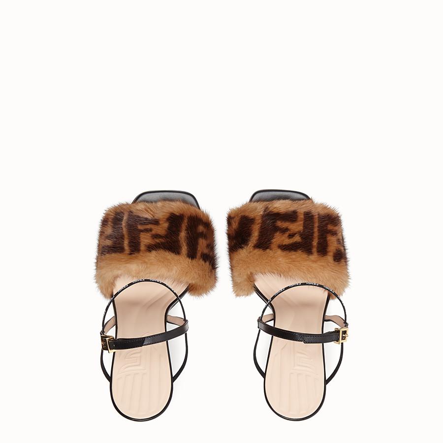 FENDI SANDALEN - Sandalen aus Nerzpelz Mehrfarbig - view 4 detail