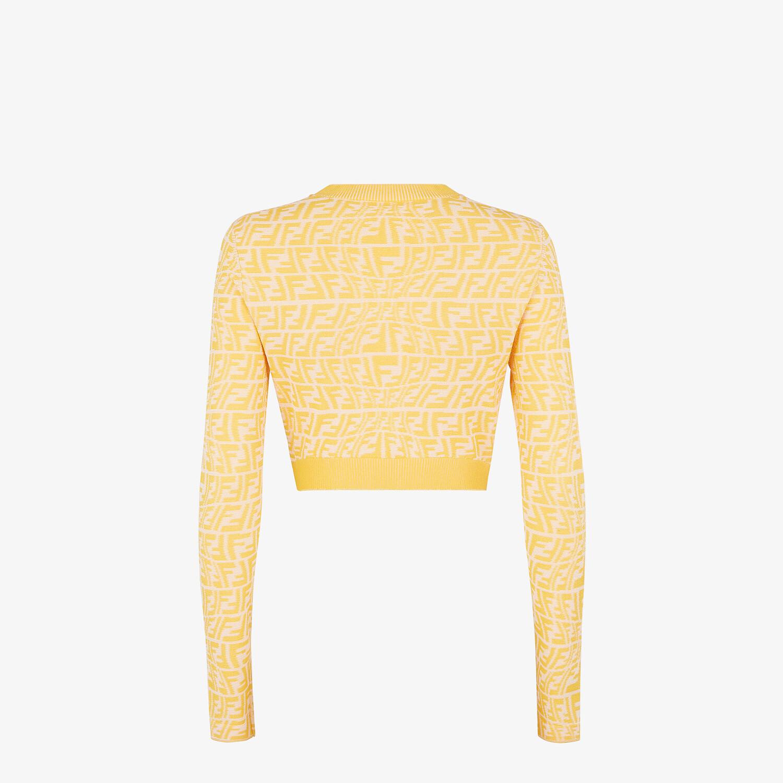 FENDI CARDIGAN - Yellow viscose cardigan - view 2 detail