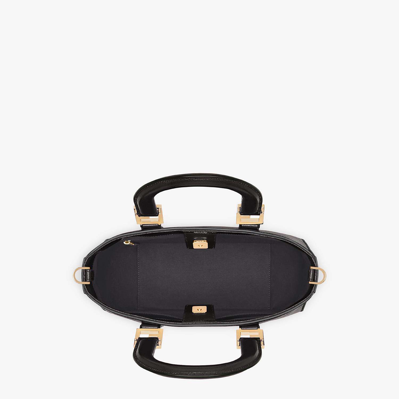FENDI FF TOTE SMALL - Black leather bag - view 5 detail