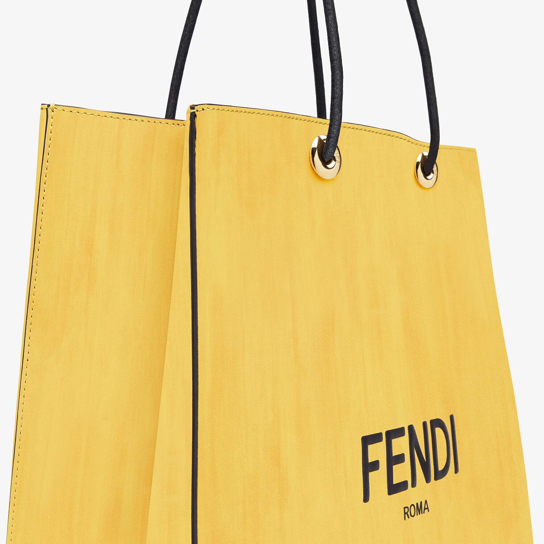 FENDI FENDI PACK MEDIUM SHOPPING BAG - Yellow leather bag - view 5 detail