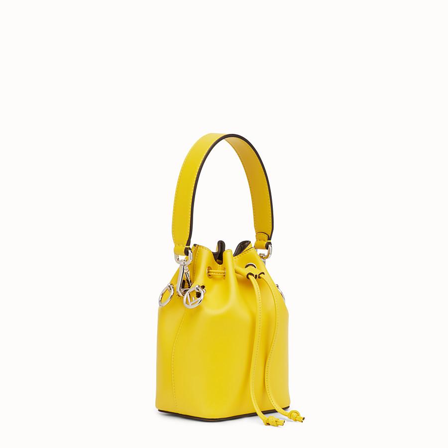FENDI MON TRESOR - Yellow leather mini-bag - view 2 detail