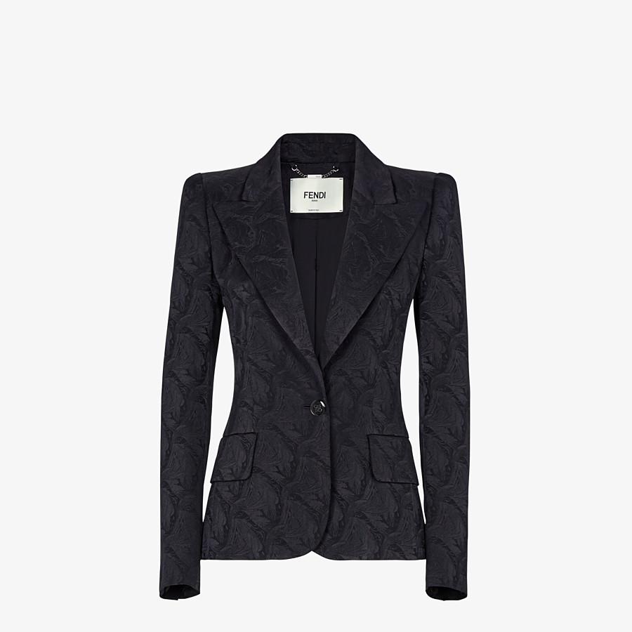 FENDI JACKET - Black silk blazer - view 1 detail