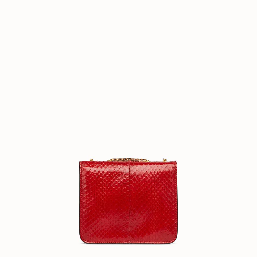 FENDI KARLIGRAPHY - Bag in red elaphe - view 4 detail