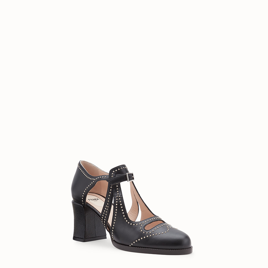 FENDI SANDALE - Pumps aus Leder in Schwarz - view 2 detail