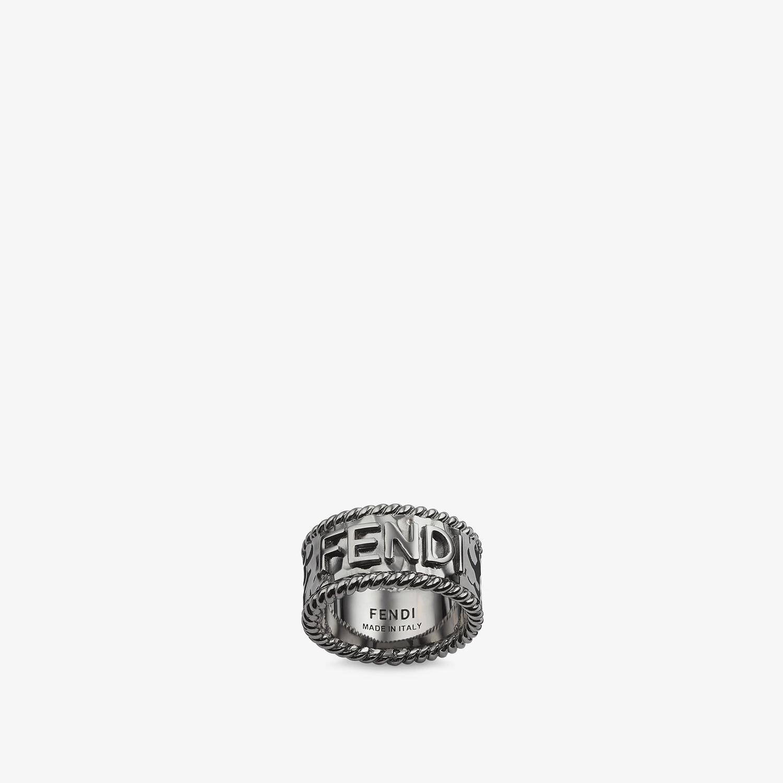 FENDI FENDI ROMA RING - Ruthenium-colored ring - view 1 detail