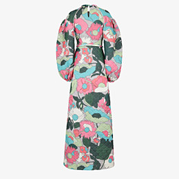 FENDI DRESS - Multicolor quilted fabric dress - view 2 thumbnail