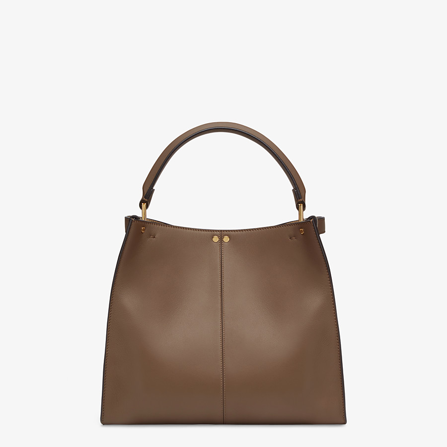 FENDI MEDIUM PEEKABOO X-LITE - Brown leather bag - view 4 detail