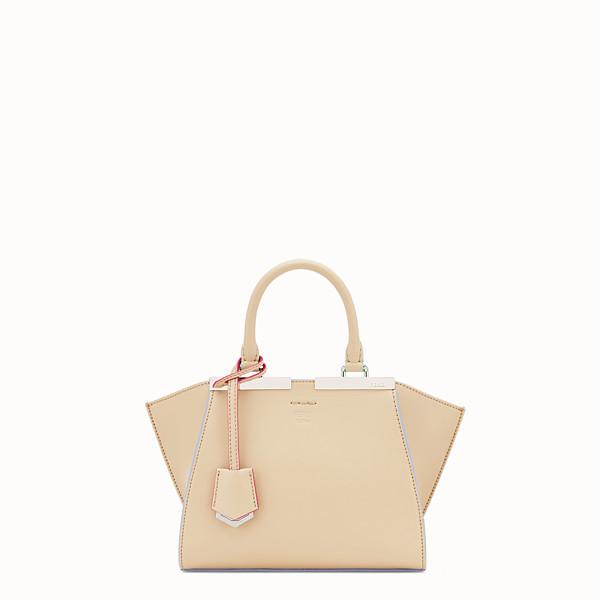 FENDI MINI 3JOURS - Beige leather mini-bag - view 1 small thumbnail