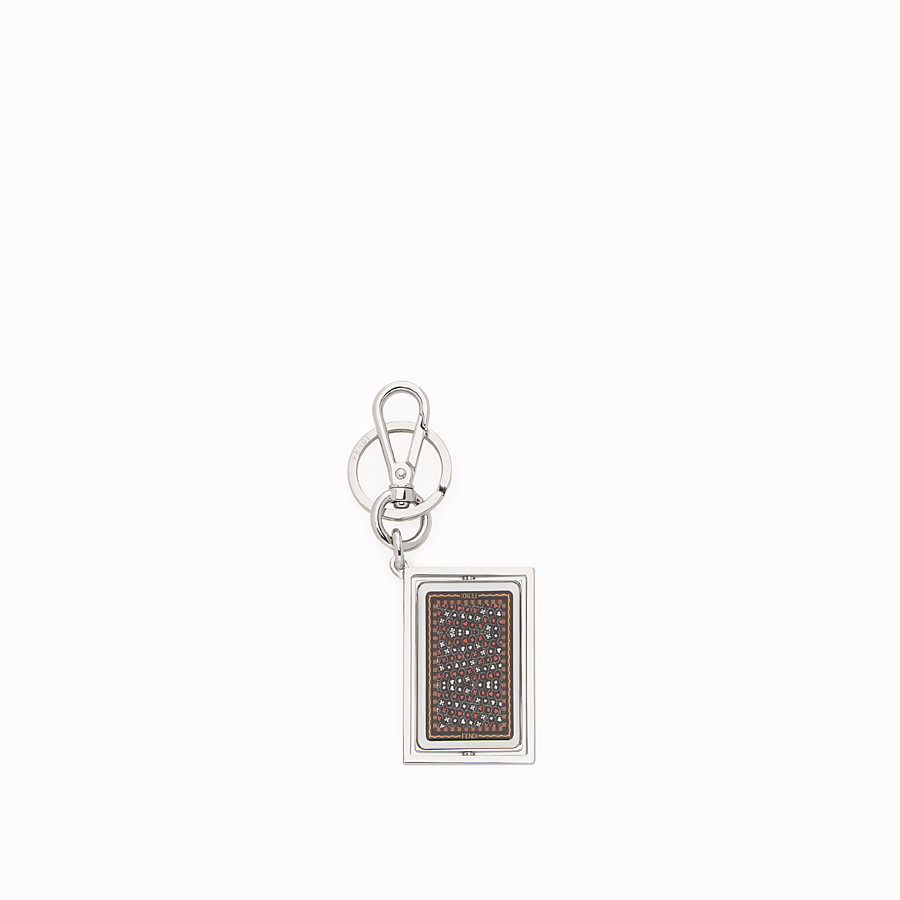FENDI KEY RING - Silver coloured metal key ring - view 2 detail