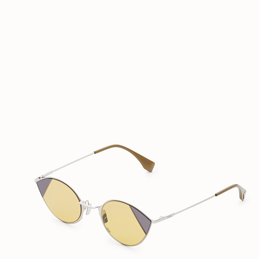 FENDI CUT-EYE - Silver-colour sunglasses - view 2 detail