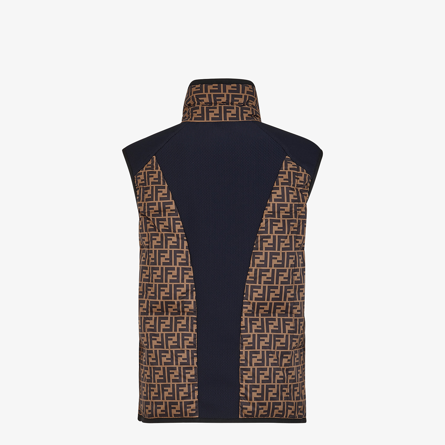 FENDI GILET - Multicolour tech fabric gilet - view 2 detail