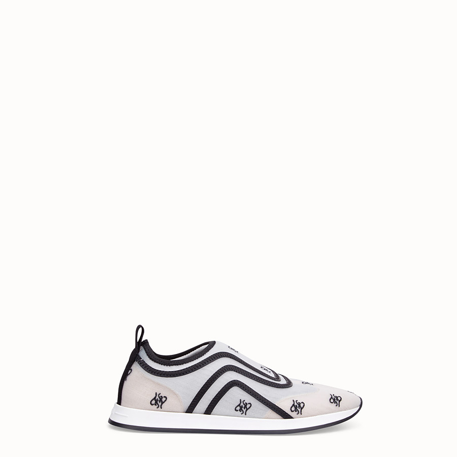 FENDI SNEAKERS - White mesh sneakers - view 1 detail