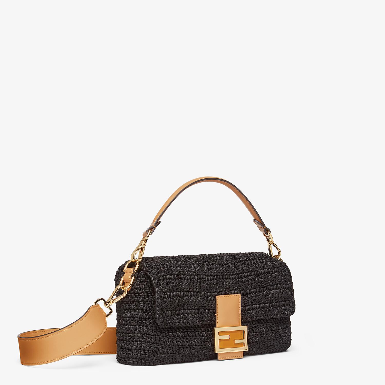 FENDI BAGUETTE - Black cotton crochet bag - view 2 detail