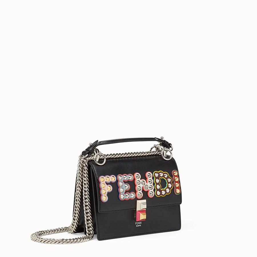 FENDI KAN I SMALL - Black leather mini-bag - view 2 detail