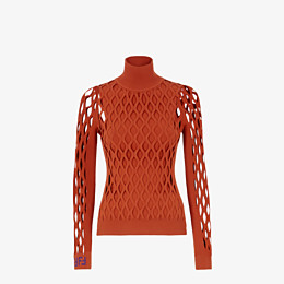 FENDI PULLOVER - Brown yarn jumper - view 1 thumbnail