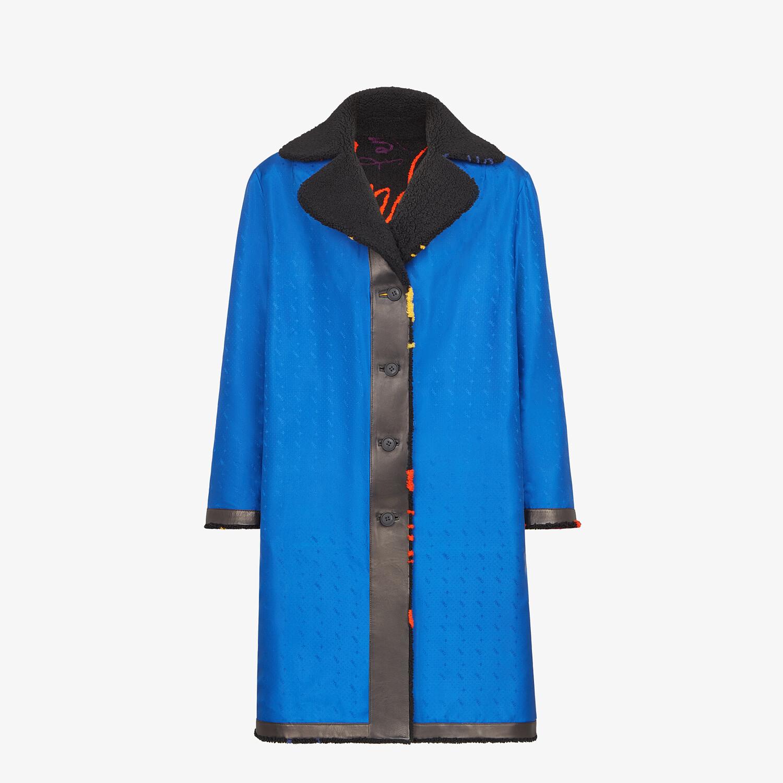 FENDI COAT - Black shearling coat - view 4 detail