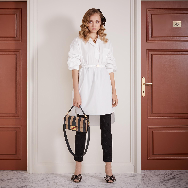 FENDI DRESS - White cotton taffeta dress - view 4 detail