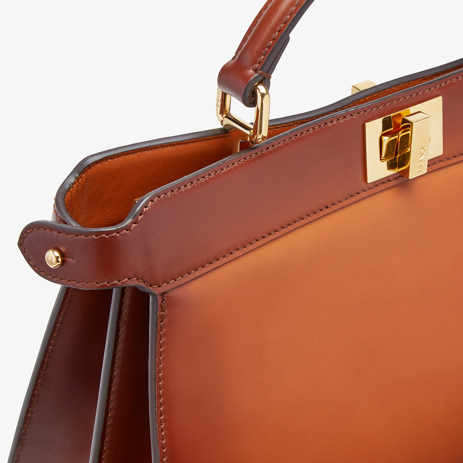 FENDI PEEKABOO ISEEU EAST-WEST - Brown leather bag - view 6 detail