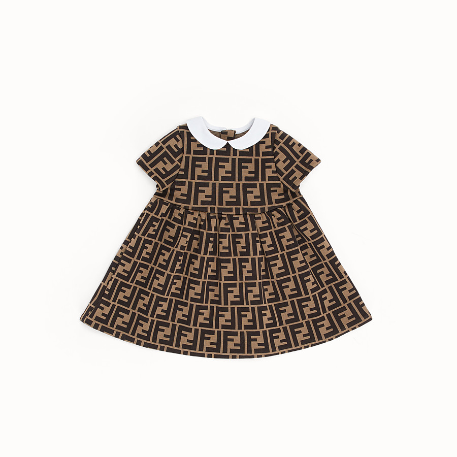 FENDI DRESS - Milano-stitch tobacco dress - view 1 detail