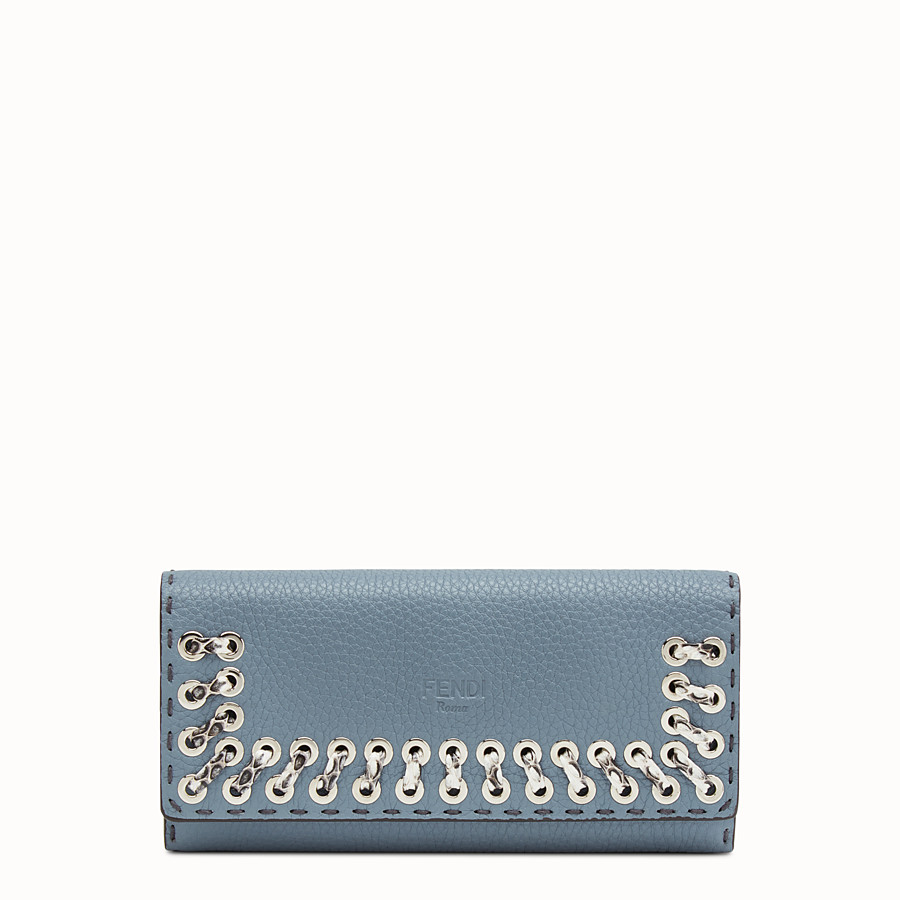 FENDI 長款皮夾 - 淺藍色和米白色Selleria長款皮夾 - view 1 detail