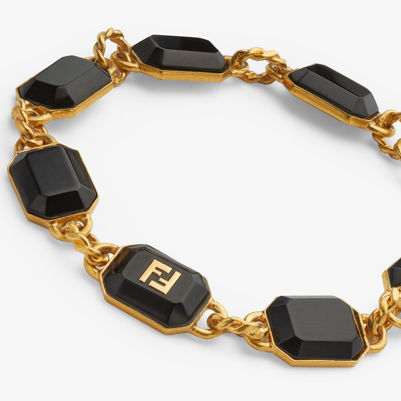 FENDI FF ONYX BRACELET - Gold-colored bracelet - view 2 detail