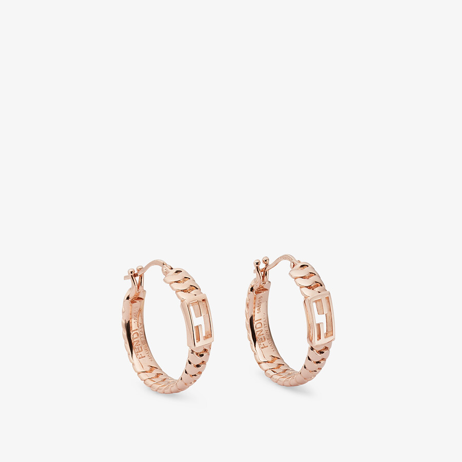 FENDI BAGUETTE SMALL EARRINGS - Rose-gold earrings - view 1 detail