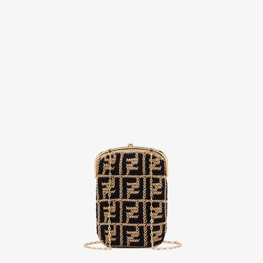 FENDI BAGUETTE PHONE BAG - FF crochet fabric mini-bag - view 3 detail