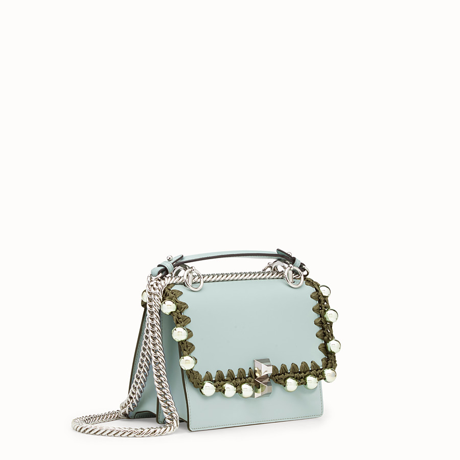 FENDI KAN I SMALL - Light blue leather mini-bag - view 2 detail