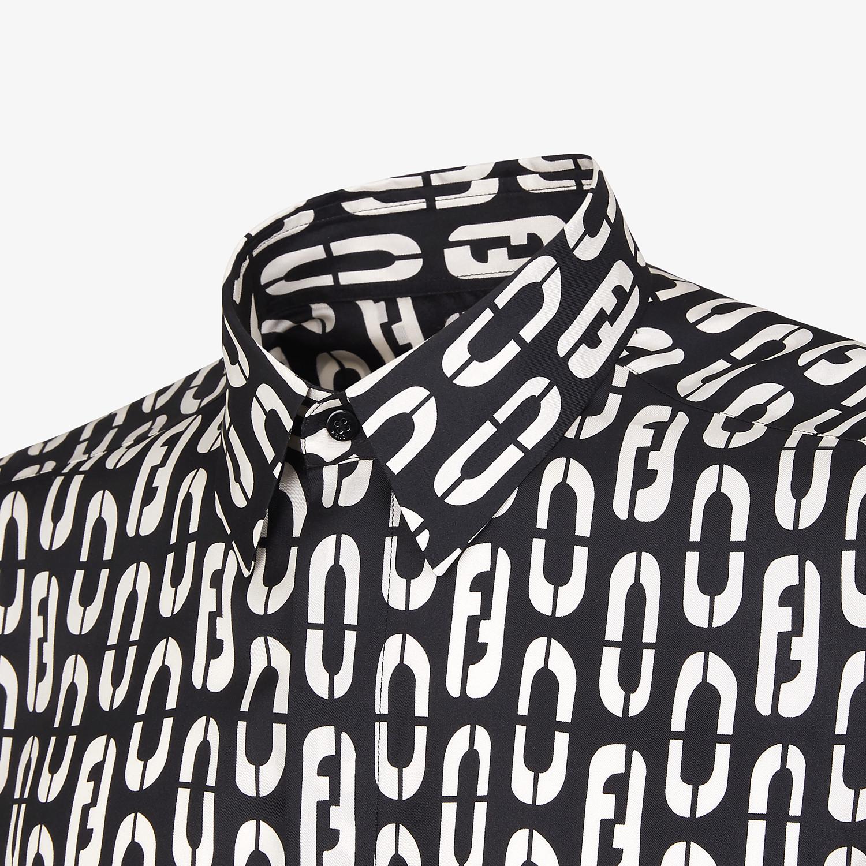 FENDI SHIRT - Multicolour silk shirt - view 3 detail